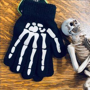 Glow in the Dark Kids Skeleton Gloves New w/ Tags